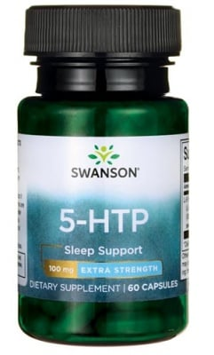 Swanson 5-HTP 100 mg 60 capsules / Суонсън Пет хидрокси триптофан (5-HTP) екстра стренгт 100 мг. 60 капсули