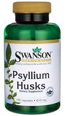 Swanson Psyllium husks 610 mg 100 capsules / Суонсън Люспи от Псилиум Хуск 610 мг. 100 капсули
