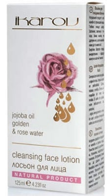 Ikarov Cleansing face lotion jojoba oil golden and rose water 125 ml. / Икаров Почистващ лосион за лице Елена 125 мл.