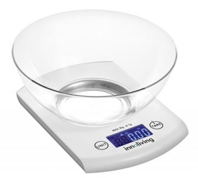 Innoliving Electronic kitchen scales with a glass 131 / Иноливинг Електронна кухненска везна с купа 131