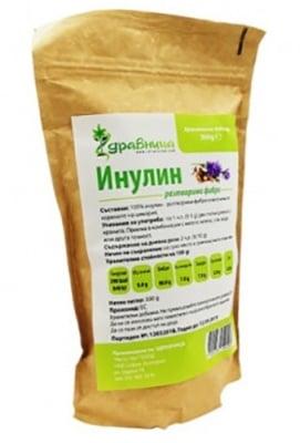 Inulin chicory fibres 300 g Zdravnitza / Инулин разтворими фибри от цикория 300 гр. Здравница