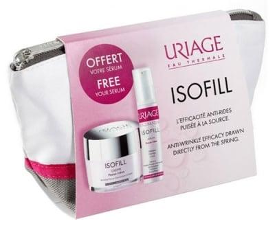 Uriage ISOFILL Set Anti - wrinkle efficacy cream 50 ml + Intensive serum 10 ml / Уриаж ISOFILL Комплект Крем за корекция на бръчките 50 мл. + Интензивен уплътняващ серум 10 мл.