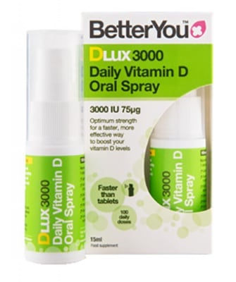 Better You daily Vitamin D oral spray lux 15 ml. / Бетър Ю Интра - Орален спрей с Витамин Д лукс 3000 IU 15 мл.