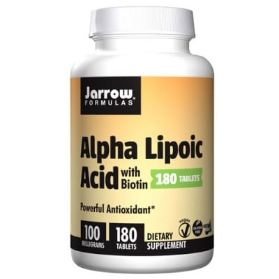 Jarrow Formulas Alpha Lipoic Acid with Biotin 100 mg 180 tablets / Джароу Формулас Алфа липоева киселина с Биотин 100 мг. 180 таблетки