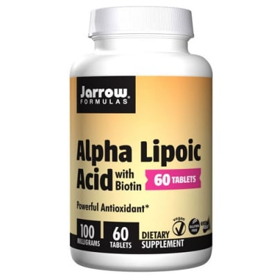 Jarrow Formulas Alpha Lipoic Acid with Biotin 100 mg 60 tablets / Джароу Формулас Алфа липоева киселина с Биотин 100 мг. 60 таблетки