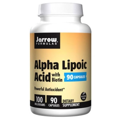 Jarrow Formulas Alpha Lipoic Acid with Biotin 100 mg 90 capsules / Джароу Формулас Алфа липоева киселина с Биотин 100 мг. 90 капсули