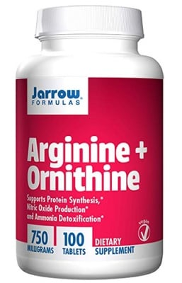 Jarrow Formulas Arginine + Ornithine 750 mg 100 tablets / Джароу Формулас Аргинин + Орнитин 750 мг 100 таблетки