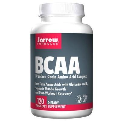 Jarrow Formulas BCAA (Branched Chain Amino Acid Complex) 120 capsules / Джароу Формулас Свободна форма аминокиселини с Глутамин и Витамин Б6 (BCAA) 120 капсули