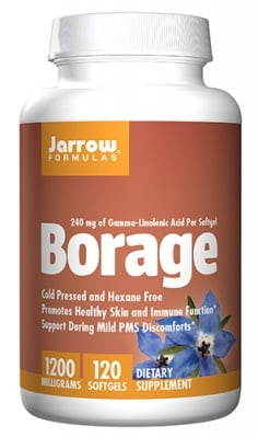Jarrow Formulas Borage 1200 mg 120 softgels / Джароу Формулас Масло от пореч 1200 мг. 120 капсули