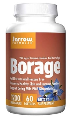 Jarrow Formulas Borage 1200 mg 60 softgels / Джароу Формулас Масло от пореч 1200 мг. 60 капсули