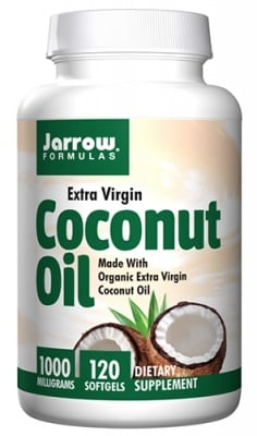 Jarrow Formulas coconut oil extra virgin 1000 mg 120 sofgels / Джароу Формулас кокосово масло екстра върджин 1000 мг 120 капсули