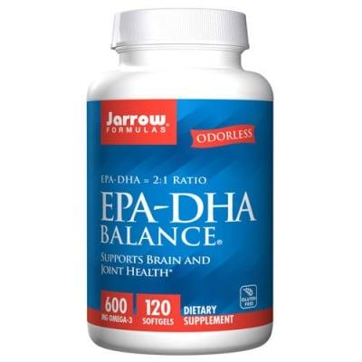 Jarrow Formulas EPA-DHA Balance 600 mg Omega 3 120 softgels / Джароу Формулас Рибено масло EPA-DHA Баланс 600 мг. Омега 3 120 меки капсули