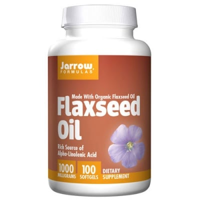 Jarrow Formulas Flaxseed Oil 1000 mg 100 softgels / Джароу Формулас Ленено масло 1000 мг. 100 меки капсули