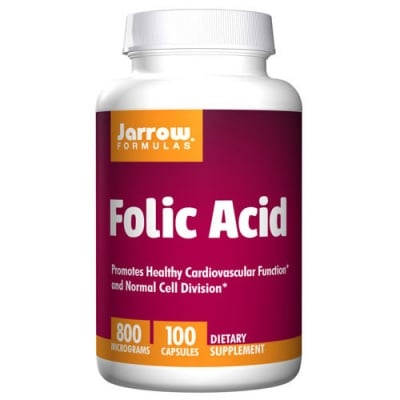 Jarrow Formulas Folic Acid 800 mcg 100 capsules / Джароу Формулас Фолиева киселина 800 мкг. 100 капсули