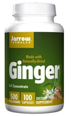 Jarrow Formulas Ginger 4:1 500 mg 100 capsules / Джароу Формулас Джинджифил 4:1 концентрат 500 мг. 100 капсули