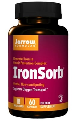 Jarrow Formulas IronSorb 18 mg 60 capsules / Джароу Формулас Желязо 18 мг. 60 капсули