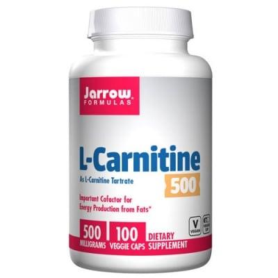Jarrow Formulas L-Carnitine 500 mg 100 capsules / Джароу Формулас L-карнитин 500 мг. 100 капсули