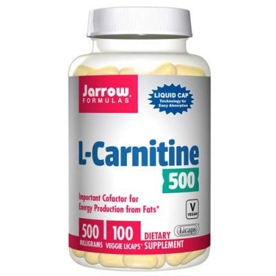 Jarrow Formulas L-Carnitine 500 mg 100 liquid capsules / Джароу Формулас L-карнитин 500 мг. 100 течни капсули