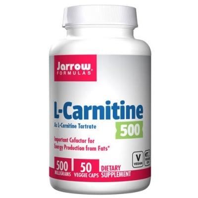Jarrow Formulas L-Carnitine 500 mg 50 capsules / Джароу Формулас L-карнитин 500 мг. 50 капсули