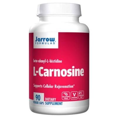 Jarrow Formulas Carnosine 500 mg 90 capsules / Джароу Формулас L-карнозин 500 мг. 90 капсули