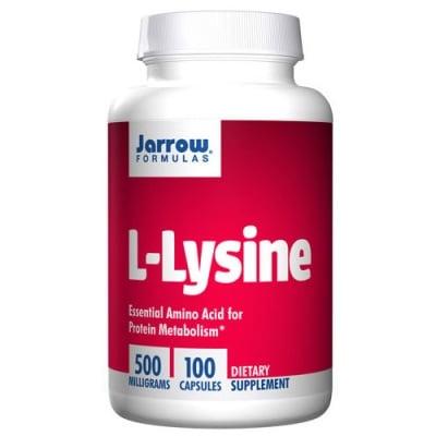 Jarrow Formulas L-lysine 500 mg 100 capsules / Джароу Формулас L-лизин 500 мг. 100 капсули