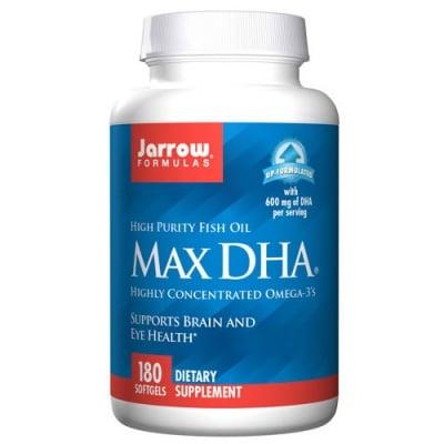 Jarrow Formulas Max DHA 180 capsules / Джароу Формулас Макс Докозахексаеновата киселина 180 капсули