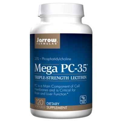Jarrow Formulas Mega PC-35 (Phosphatidylcholine 35%) 120 capsules / Джароу Формулас Мега Фосфатидилхолин-35 120 капсули