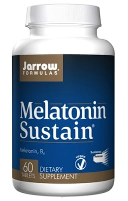 Jarrow Formulas Melatonin sustain 60 tablets / Джароу Формулас Мелатонин Систеин 60 таблетки