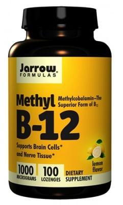 Jarrow Formulas Methyl B-12 1000 mcg 100 lozenges / Джароу Формулас Метилкобаламин 1000 мкг. 100 таблетки за смучене