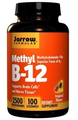 Jarrow Formulas Methyl B-12 2500 mcg 100 lozenges / Джароу Формулас Метилкобаламин 2500 мкг. 100 таблетки за смучене