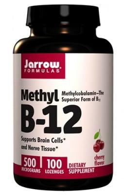 Jarrow Formulas Methyl B-12 500 mcg 100 lozenges / Джароу Формулас Метилкобаламин 500 мкг. 100 таблетки за смучене