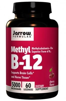 Jarrow Formulas Methyl B-12 5000 mcg 60 lozenges / Джароу Формулас Метилкобаламин 5000 мкг. 60 таблетки за смучене