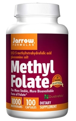 Jarrow Formulas Methyl folate 1000 mcg 100 capsules / Джароу Формулас Метил Фолиева киселина (Метил Фолат) 1000 мкг. 100 капсули