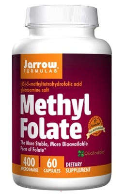 Jarrow Formulas Methyl folate 400 mcg 60 capsules / Джароу Формулас Метил Фолиева киселина (Метил Фолат) 400 мкг. 60 капсули