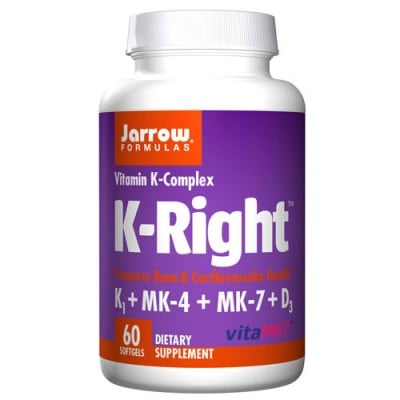 Jarrow Formulas K-Right Vitamin K Complex 60 capsules / Джароу Формулас Витамин К комплекс 60 капсули