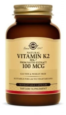 Vitamin K2 100 mcg 50 capsules Solgar / Витамин К2 100 мкг. 50 капсули Солгар