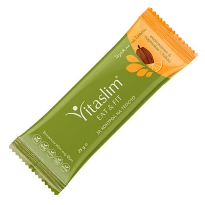 Vitaslim Eat and fit with Orange and cocoa 25 g / Витаслим Био барче Витаслим Ийт енд Фит с Портокал и какао 25 гр.