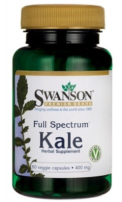 Swanson Full spectrum Kale 400 mg 60 capsules / Суонсън Къдраво зеле фул спектрум 400 мг. 60 капсули