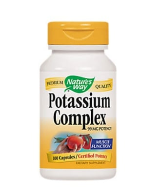Potassium complex 99 mg 100 capsules Nature`s Way / Калиев комплекс 99 мг 100 капсули Nature`s Way