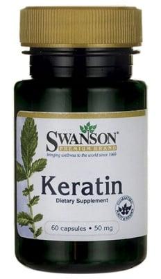 Swanson Keratin 50 mg 60 capsules / Суонсън Кератин 50 мг. 60 капсули