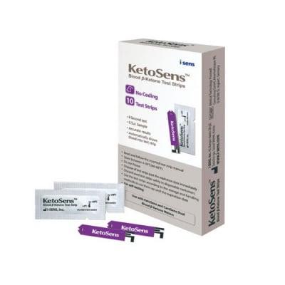 KetoSens Blood Beta-Ketone Test Strips 10 pcs. / Кетосенс Тест ленти за измерване на кетони 10 броя