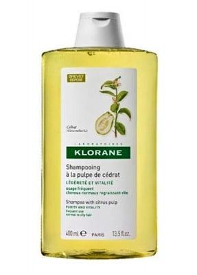 Klorane citron pulp shampoo with vitamins 400 ml / Клоран енергизиращ шампоан с екстракт от седра 400 мл