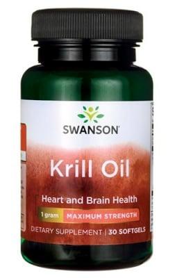 Swanson krill oil EFA's maximum strength 30 softgels / Суонсън Крил ойл максимална сила 30 капсули