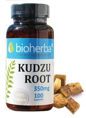 Bioherba Kudzu root 350 mg 100 capsules / Биохерба Кудзу корен 350 мг. 100 капсули