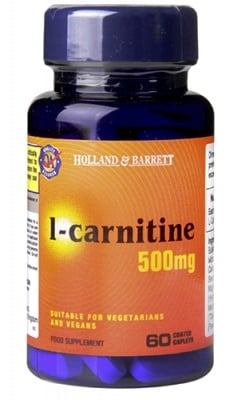 L-Carnitine 500 mg 60 caplets Holland Barrett / L-Карнитин 500 мг. 60 каплети Holland Barrett