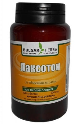 Bulgar Herbs laxotone 120 tablets / Булгар Хербс Лаксотон 120 таблетки