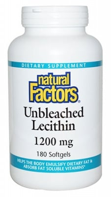 Lеcithin 1200 mg 180 capsules Natural Factors / Лецитин 1200 мг. 180 капсули Натурал Факторс