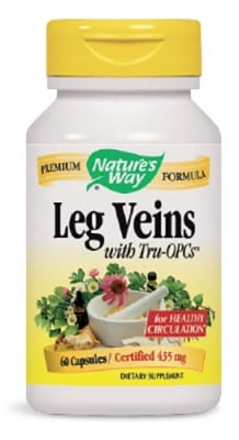 Leg Veins 435 mg 60 capsules Natures Way / Лег Вейнс 435 мг. 60 капсули Natures Way