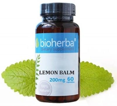 Bioherba lemon balm 200 mg 60 capsules / Биохерба Маточина лист 200 мг 60 капсули