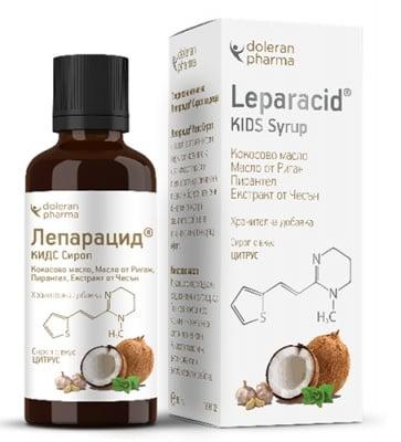Leparacid kids syrup 50 ml. Doleran Pharma / Лепарацид сироп за деца 50 мл. Долеран Фарма